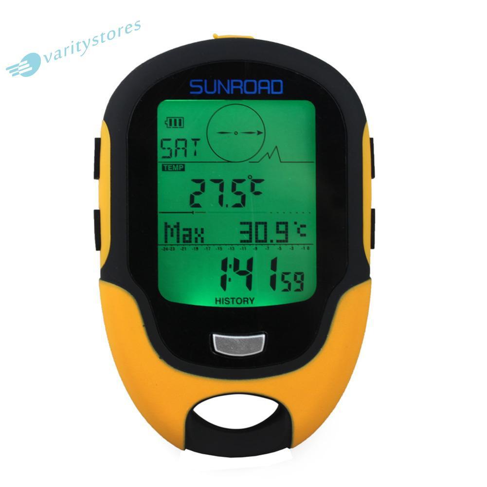 防水 Fr500 多功能液晶數字高度計氣壓計指南針