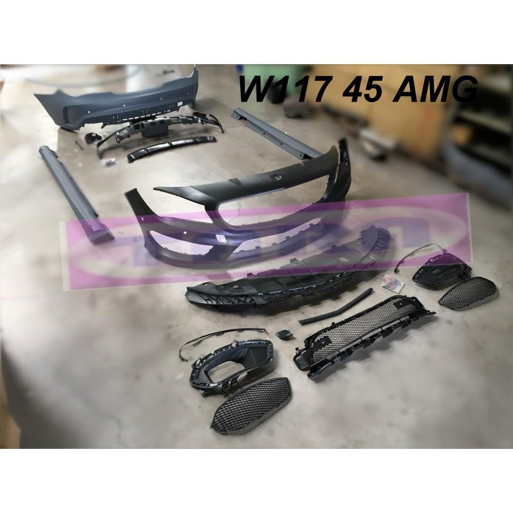W117 CLA250 CLA45 CLA改AMG AMG 前保桿 側裙 後保桿 全車空力套件