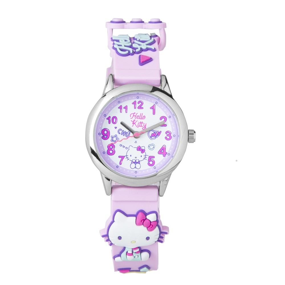【HELLO KITTY】凱蒂貓 繽紛霓虹兒童手錶(粉紅 KT075LWPP)