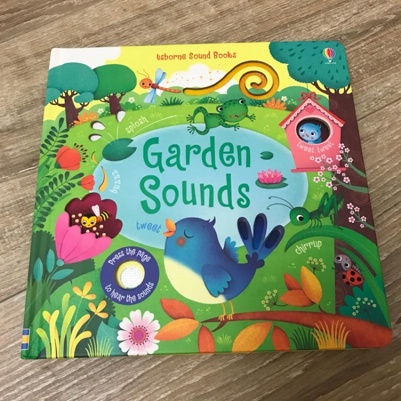 英國 Usborne Touchy-Feely Sound Book: Garden sounds 硬頁音效書
