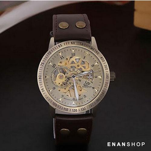 WINNER 復古簍空機械錶 手錶 皮革錶帶 女錶 男錶 情侶對錶 惡南宅急店【0544F】