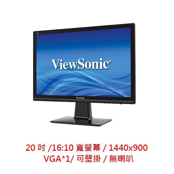 ViewSonic 優派 VX2039-SA 20型 20吋 IPS面板 16:9 螢幕 LED螢幕 電腦螢幕