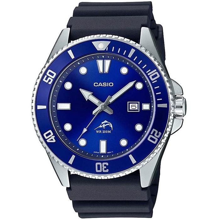 【CASIO】卡西歐槍魚系列運動膠帶錶-藍水鬼 / MDV-106B-2A 台灣公司貨