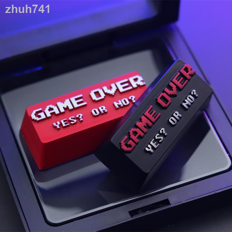 ✨個性鍵帽✨ 定制創意個性動漫游戲結束GameOver金屬陽極氧化機械鍵盤單個鍵帽立體浮雕替換鍵帽機械式鍵盤電競鍵盤 光