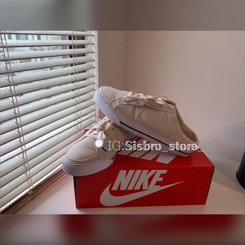 New Nike Court Legacy mule 懶人鞋 穆勒鞋 一腳凳 帆布
