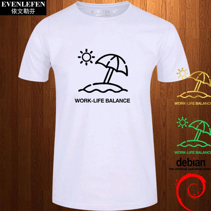 程序员debian编程linux操作系统源代码码农T恤短袖男女短袖衫衣服