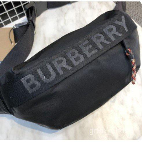 【仔仔二手精品】正品 BURBERRY 標誌細節設計 ECONYL® Sonny 腰包 80256681 現貨 sDYP
