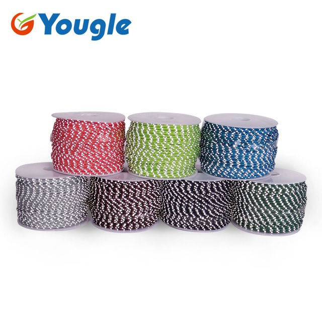 三芯反光繩2MM傘繩 50米160FT拉繩捆綁 編織繩曬衣繩防風繩