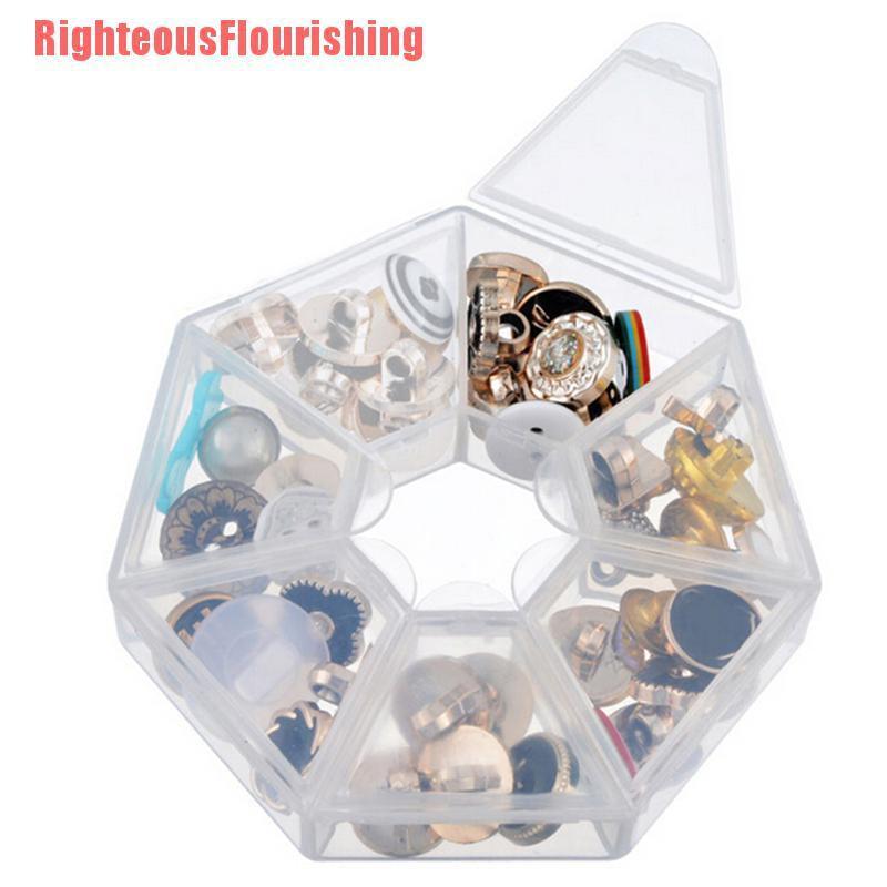 [RF] + NEW + HOT1pc / 2pcs塑料7槽可調式珠寶工具盒收納盒收納珠