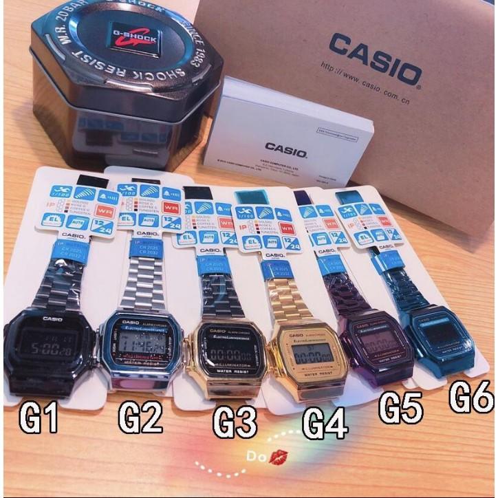 CASIO卡西歐手錶 金色復古錶 運動手錶 電子錶 防水 日本錶 超薄 指針考試手錶 手錶女生 男用手錶 現貨