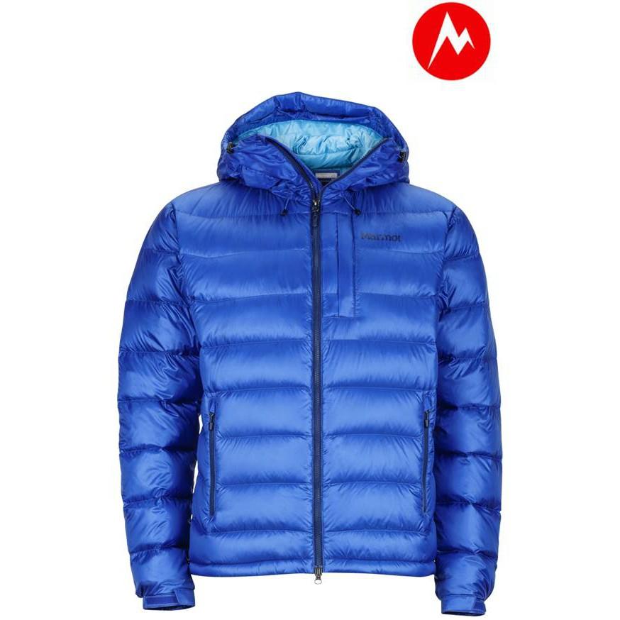 【Marmot】美國-Ama Dablam Jacket 男超輕保暖羽絨外套-黑色/藍色(71210)