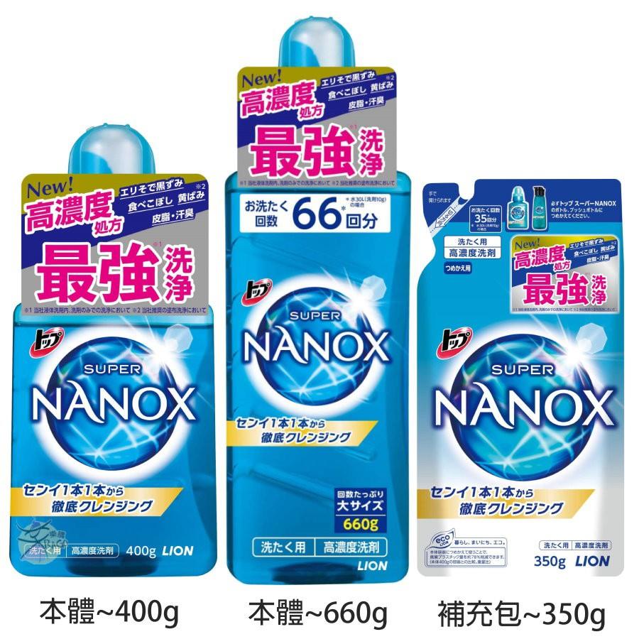 LION獅王 SUPER NANOX 奈米樂 / 無臭化 超濃縮洗衣精 【樂購RAGO】 日本製