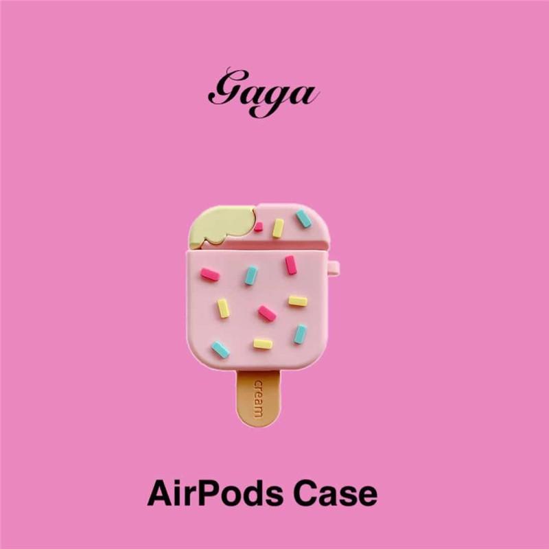 適用AirPods保護套夏日必吃雪糕耳機殼蘋果1/2/pro耳機套硅膠創意