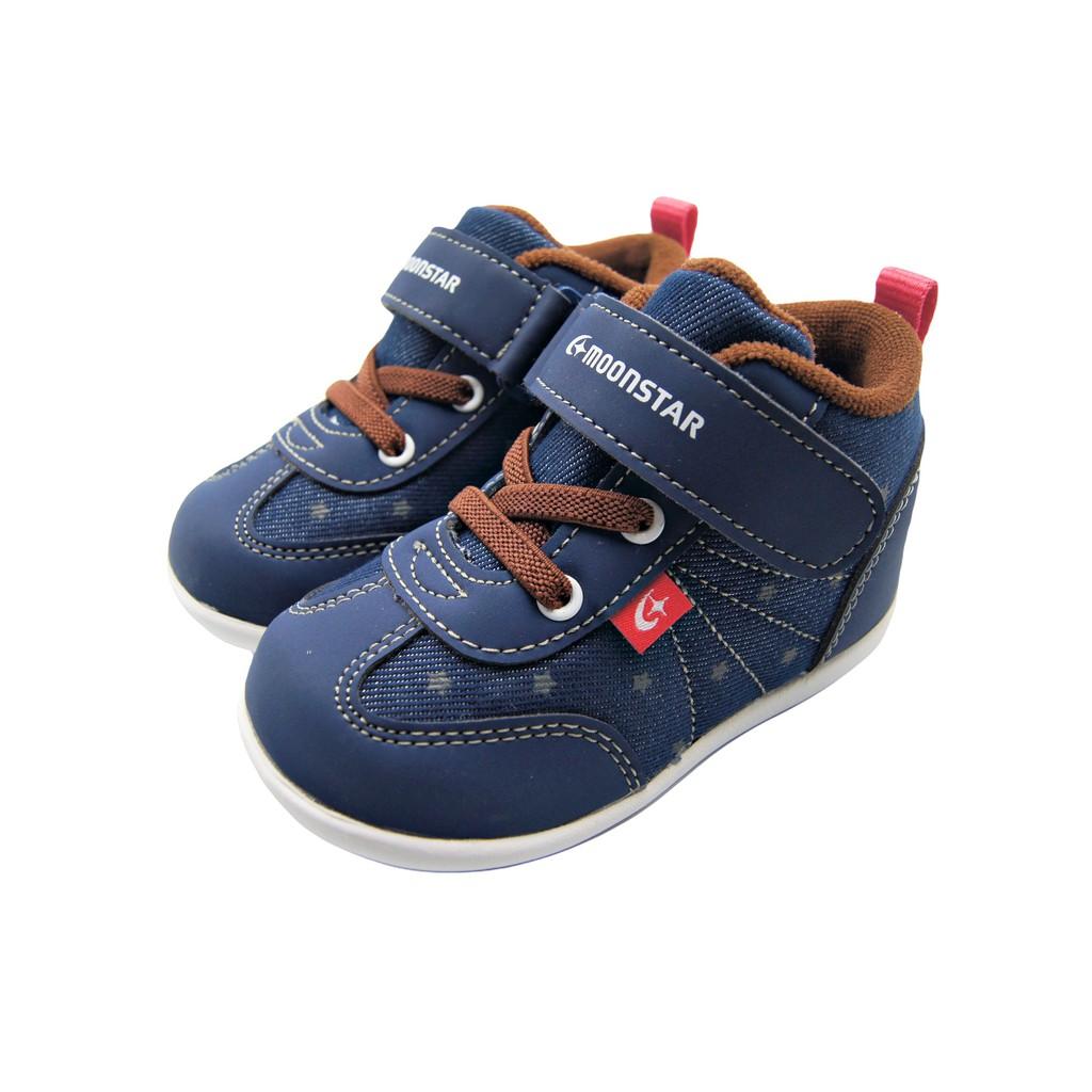 <> Moonstar月星日本 機能矯正鞋 寶寶 小童 高筒機能鞋 寬楦 魔鬼氈速乾 (K9658)