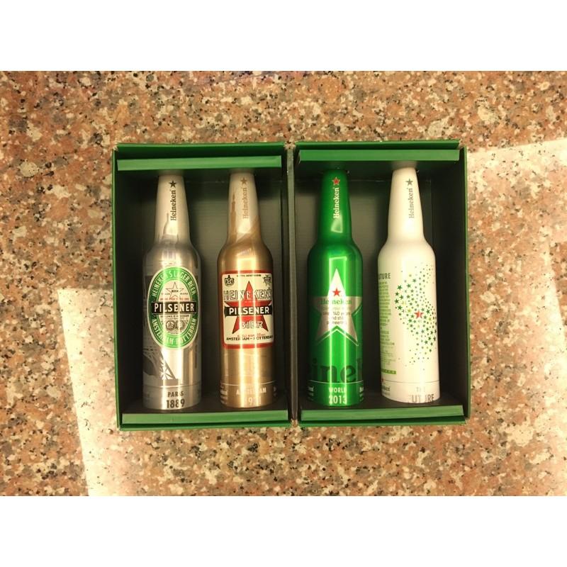 收藏擺飾海尼根紀念瓶一組四入