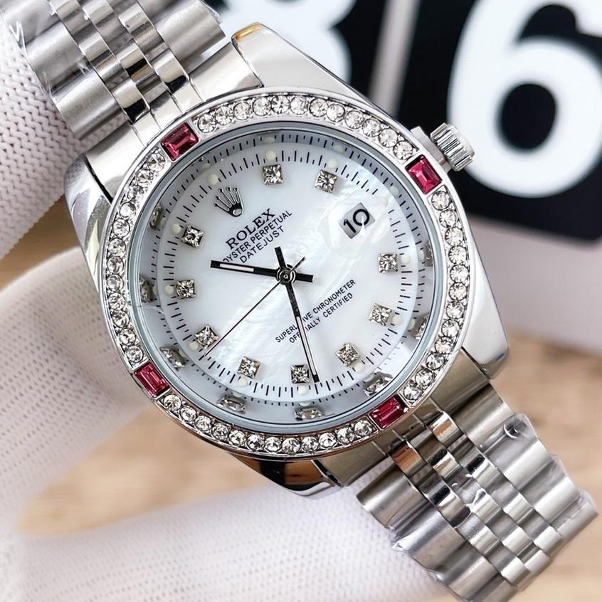 新品Rolex 勞力士 滿天星日誌系列全鑲鑽款石英機芯手錶 男士高端商務錶 土豪金手錶 白金滿鑽腕錶 男士腕錶