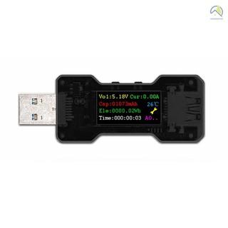 ⚙ FNB18 USB測試儀電壓電流容量電量計時表電源測試檢測儀指示燈USB3.0彩屏多功能安全檢測儀