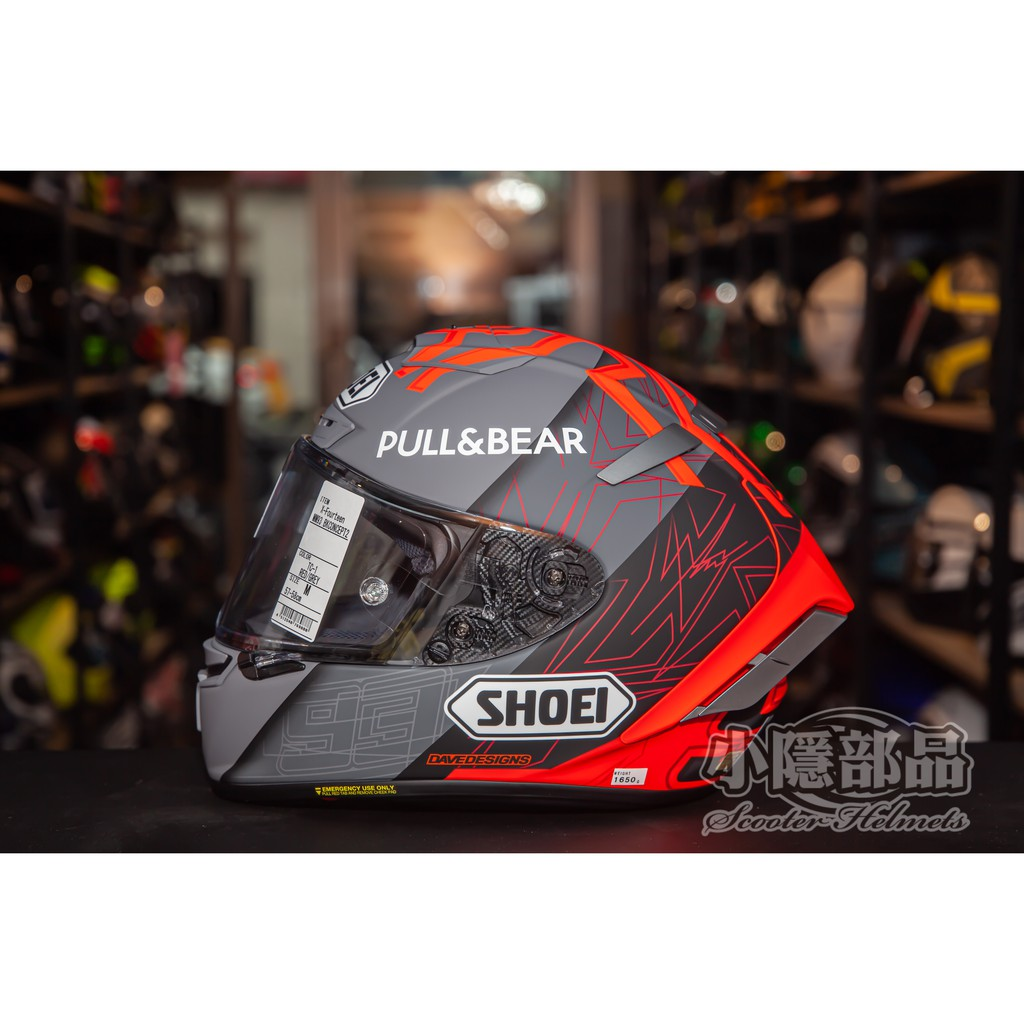 【小隱部品】現貨Shoei X-14  Marquez X-Fourteen MM93 BLACK CONC現貨
