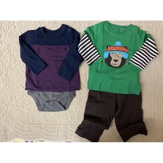 二手嬰兒Gap長袖包屁衣6-12m+Carter's 衣褲組 9m 台北市