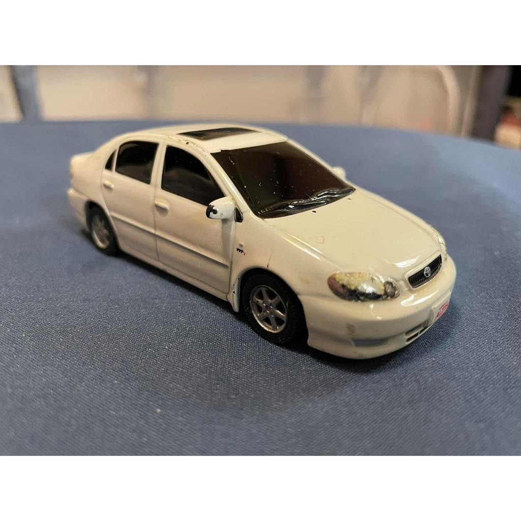 二手品 台灣豐田原廠二十年前發行絕版迴力車 Toyota altis 稀少白色 1/43 原廠 迴力車 模型車