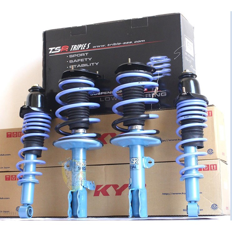 【優質輪胎】全新KYB藍筒避震器+TS短彈簧套裝(FIESTA 新嘉年華 馬2)三重區