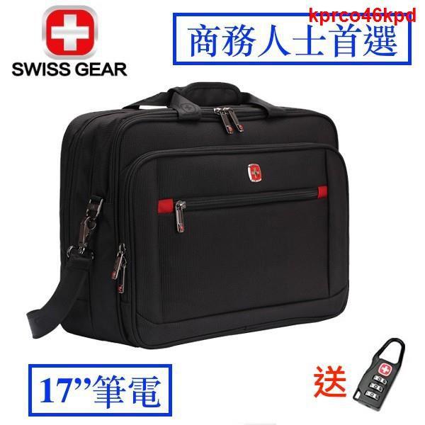 ☢17吋 大容量 SWISSGEAR 瑞士 軍刀 防水 手提包 出國 旅遊 電腦包 筆電包  旅行 商務 拉桿包 出差@