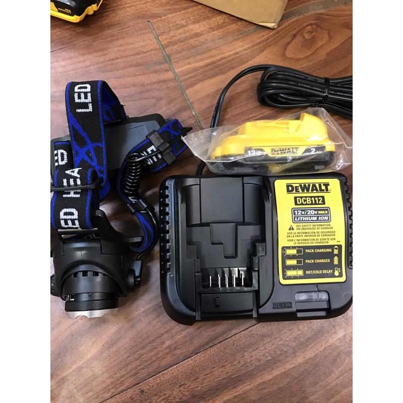 送頭燈 花電 全新 DEWALT  得偉  DCB122 10.8V 12V 原廠電量顯示 電池 DCB112 搭配
