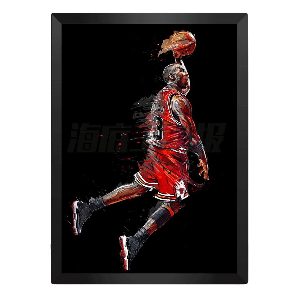 [現貨]彩色裝飾海報 jordan 飛人10 MJ 麥可喬丹 籃球之神 臥室宿舍客廳牆畫文青nba海報咖啡廳