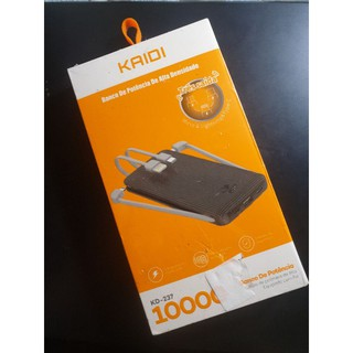 原裝 KAIDI KD-237  1拖4 10000mAh 行動電源 TypeC/ Micro/ lighting 皆適用 高雄市