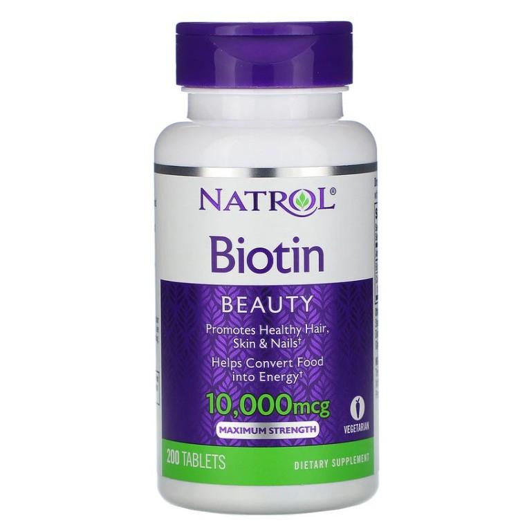 現貨【美國直送】Natrol Biotin  生物素 10000mcg 100片 落髮 斷髮 指甲 皮膚