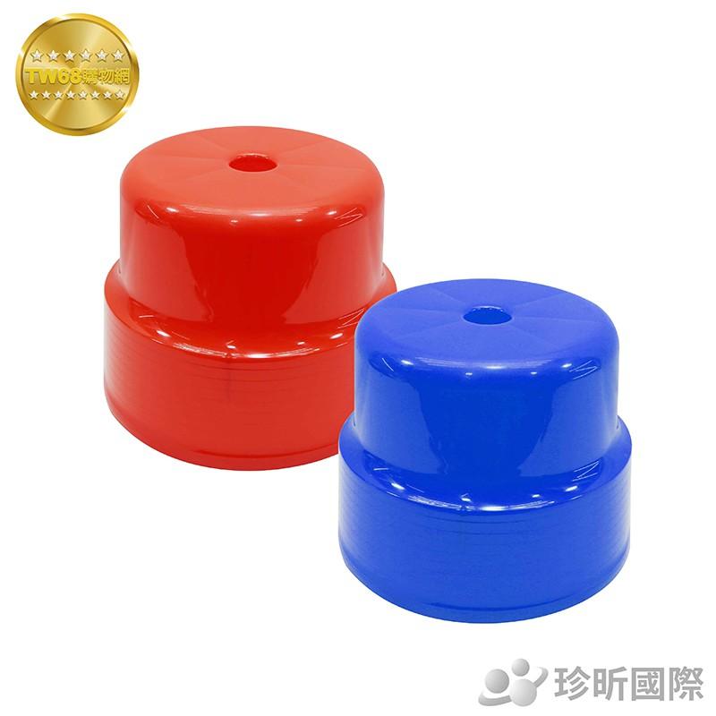 塑膠大快樂椅 台灣製|紅、藍兩色可選|長約23cmx寬約23cm|矮凳|椅凳|防滑洗澡椅|小板凳【TW68】