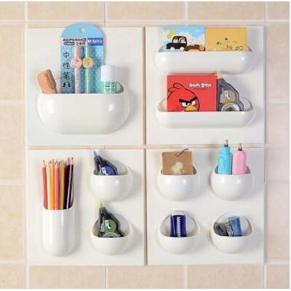 【花田美居】無痕強力粘貼掛式置物架廚房衛生間廁所浴室用牆面儲物盒收納架
