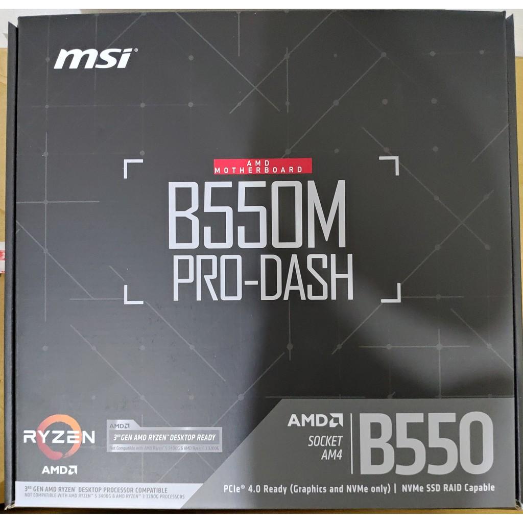 MSI 微星 B550M PRO-DASH 主機板 b450m b550m