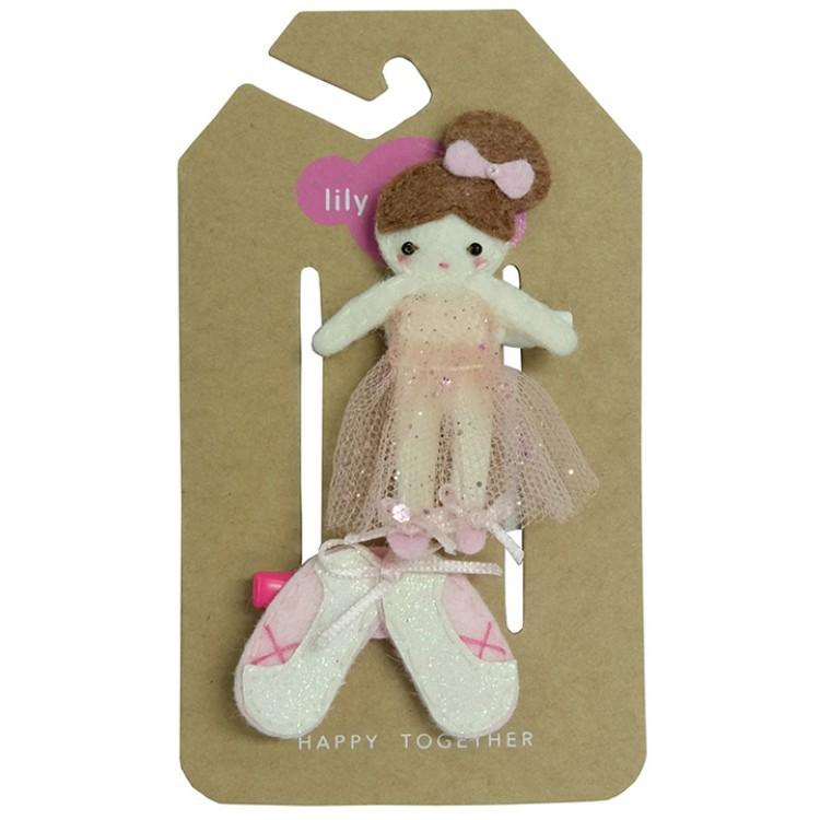 【美國 Lily & Momo】手工童趣髮飾- 芭蕾舞伶 #HCA330