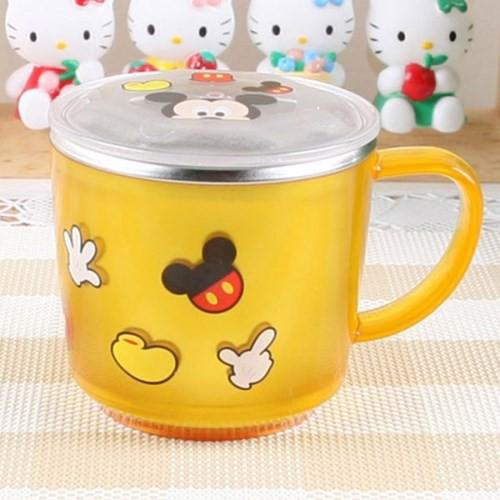 vouz ☄ 韓國Lilfant~ 迪士尼 米奇 防燙防滑 有蓋304不鏽鋼杯/兒童水杯