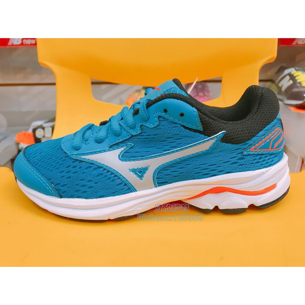 美津濃 MIZUNO WAVE RIDER 22 JR 童慢跑鞋 K1GC183303 藍綠色 大童鞋 避震 運動 女鞋