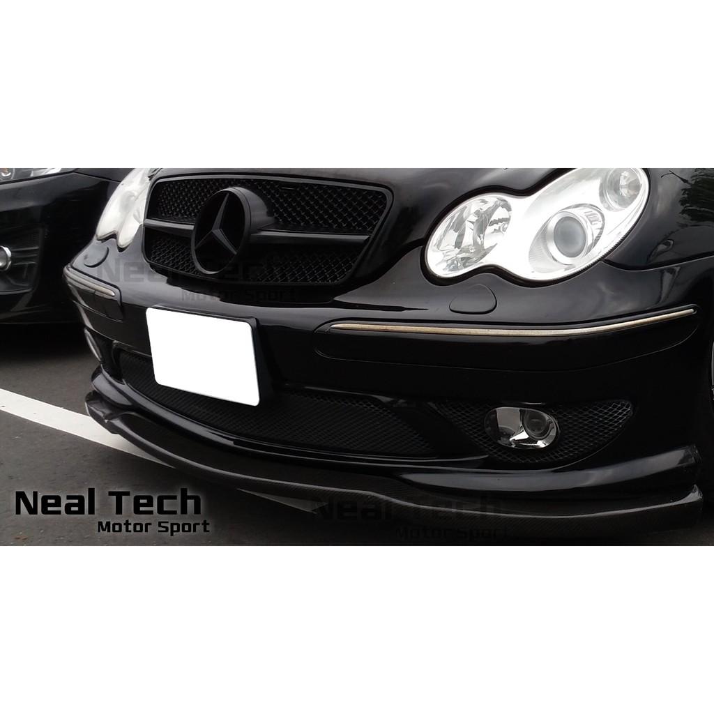 Benz W203 AMG 前保 Carlsson 碳纖維 前下巴 定風翼 Carbon 卡夢 卡森 改裝 空力套件
