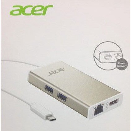 宏碁原廠Acer USB Type-C多功能擴充卡 HUB HDMI+RJ45+USB3.1 C3-H9074