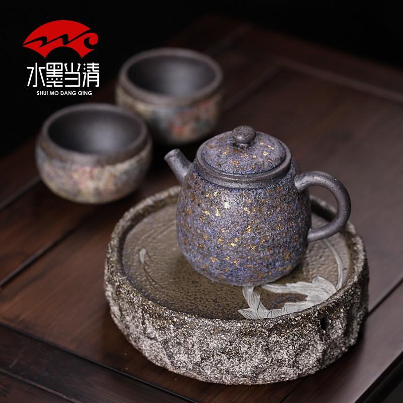熱銷款 高檔茶器 茶壺巖礦星空泡茶壺泡茶 家用 全手工 功夫茶具 過濾壺手握單壺耐高溫