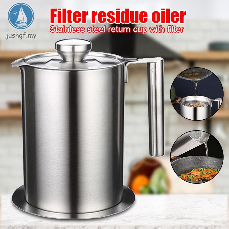 Jsf 不銹鋼廚房烹飪油濾鍋湯油脂過濾器分離器大容量