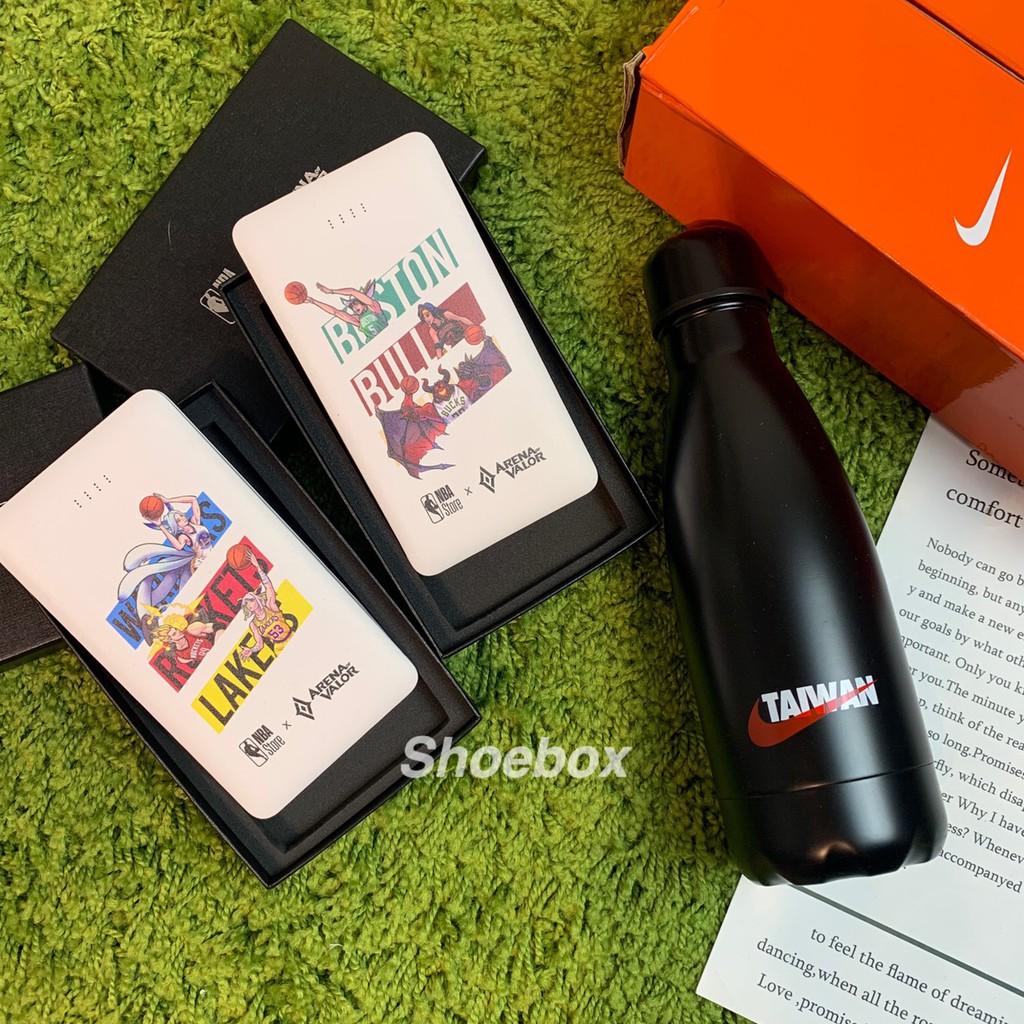 SHOEBOX NIKE TAIWAN 保溫瓶 350ml 傳說XNBA 聯名行動電源 5500
