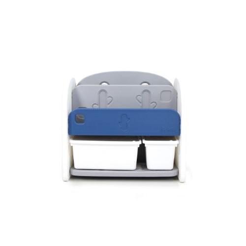 Ifam 深藍色書架收納組(白色收納盒x2)【特價$3420】