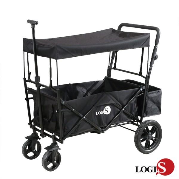 !LOGIS升級版 雙桿超大輪美式推車 LV169-BBK購物拖車寵物野餐超市釣魚買菜 露營郊遊 遛狗  推拉車