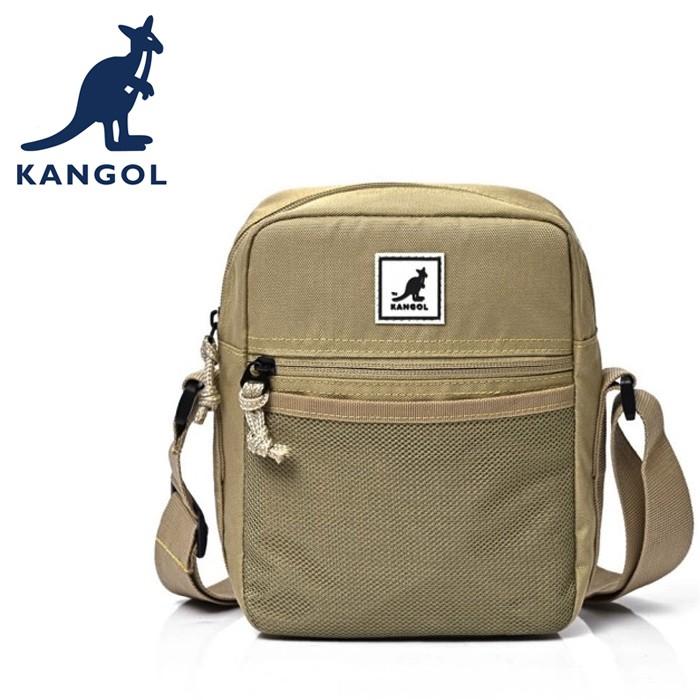 KANGOL 英國袋鼠 側背包/斜背包 6955301932 卡其
