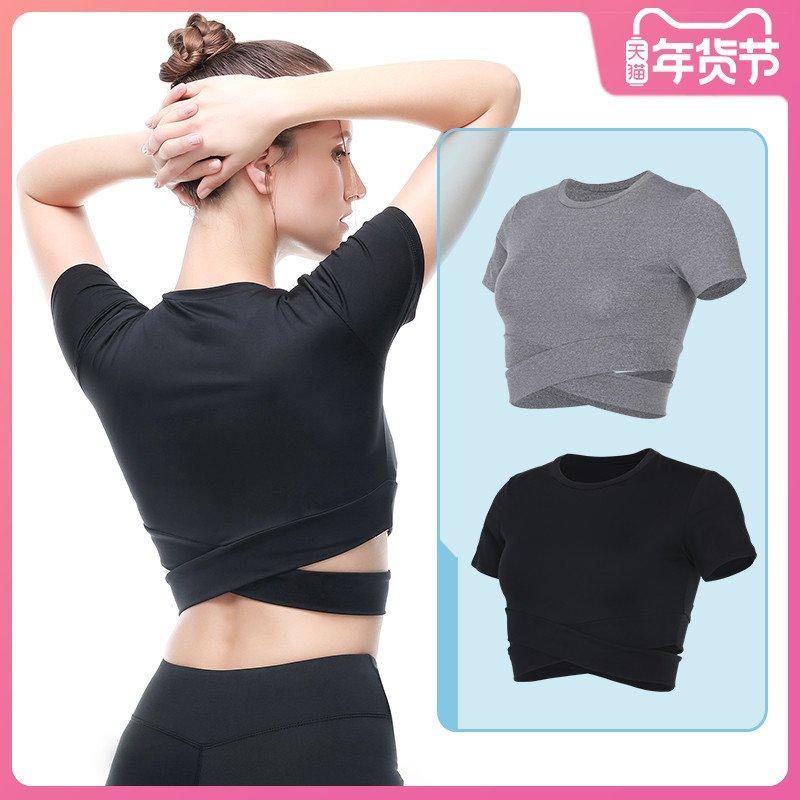 jdPI 速乾罩衫緊身上衣訓練女短袖性感健身背心運動瑜伽服露臍夏天吸汗