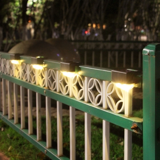 升級款太陽能燈2LED壁燈防水花園圍牆籬笆燈景觀庭院太陽能樓梯燈