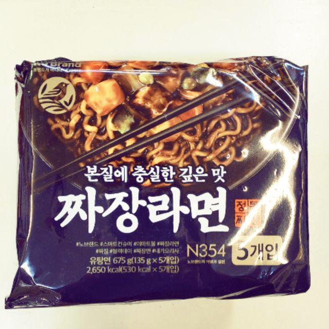 快速出貨  韓國 No Brand 經典炸醬拉麵 5包入 最強炸醬麵!!!