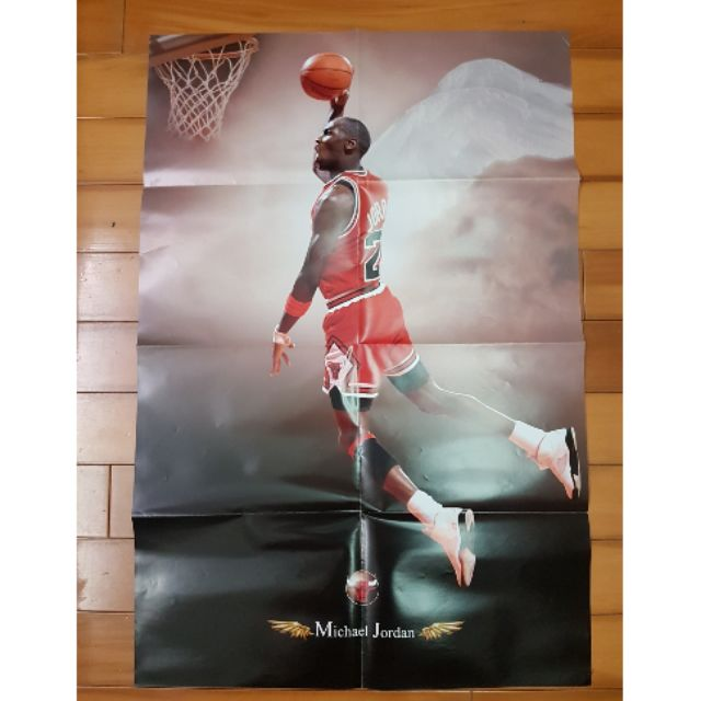 nba Michael Jordan Tracy McGrady 海報 絕版 XXL 美國職籃 hoop 喬丹