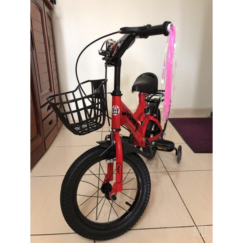 二手 9成新 兒童腳踏車 14吋 兒童自行車/腳踏車/附閃光輔助輪