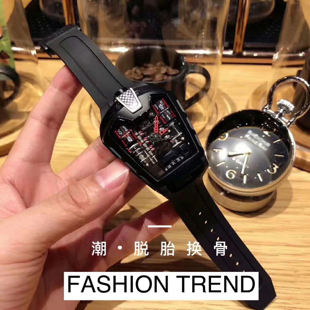 【熱售】2021新款酒桶型手錶男查理德石英錶米勒rm個性法拉利跑車休閒潮錶